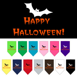 Happy Halloween Screen Print Bandana