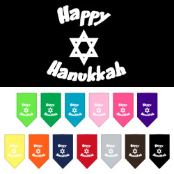 Happy Hannukah Screen Print Bandana