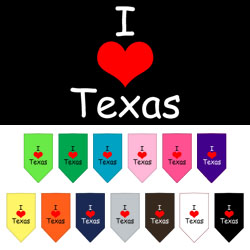 I Heart Texas Screen Print Bandana