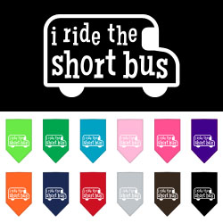 I ride the short bus Screen Print Bandana