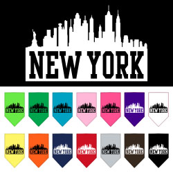New York Skyline Screen Print Bandana