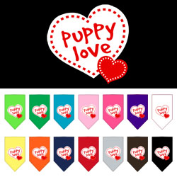 Puppy Love Screen Print Bandana