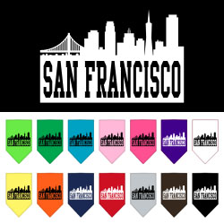 San Francisco Skyline Screen Print Bandana