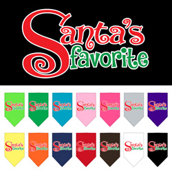 Santas Favorite Screen Print Pet Bandana