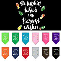 Pumpkin Kisses Screen Print Bandana