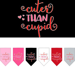 Cuter Than Cupid Screen Print Bandana