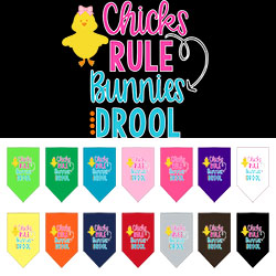 Chicks Rule Screen Print Bandana
