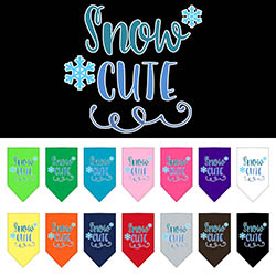 Snow Cute Screen Print Bandana