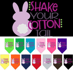 Shake Your Cotton Tail Screen Print Pet Bandana