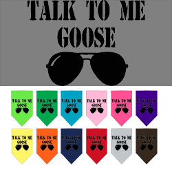 Talk to me Goose Screen Print Pet Bandana