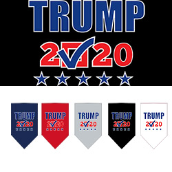 Trump 2020 Checkbox Screen Print Bandana