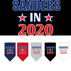 Sanders in 2020 Screen Print Bandana