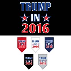 Trump in 2016 Election Screenprint Bandanas