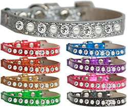 Pearl and Clear Jewel Ice Cream Cat safety band collar