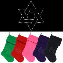 Hanukkah Christmas Stocking.Hanukkah Stockings