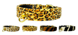 Animal Print #70 Plain Dog Collar