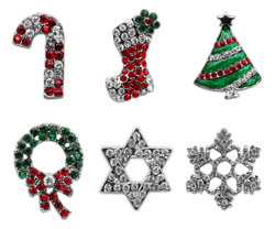 Holiday 10mm Slider Charms