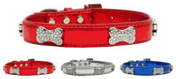 Patriotic Crystal Bone Collars