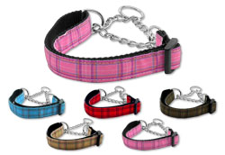 Plaid Martingale Collars