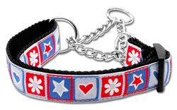 Blue Stars and Hearts Martingale Nylon