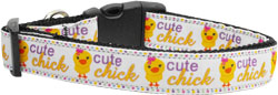 Cute Chick Nylon Ribbon Collars