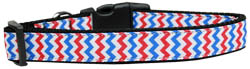 Patriotic Chevrons Nylon Dog Collar
