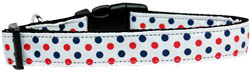 Patriotic Polka Dots Nylon Dog Collar