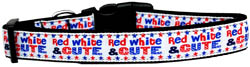 Red, White, and Cute! Nylon Dog Collar