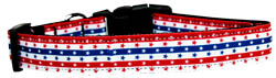 Stars in Stripes Nylon Dog Collar