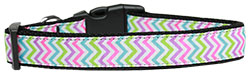 Summer Chevrons Nylon Dog Collar