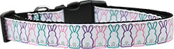 Bunny Tails Nylon Dog Collar