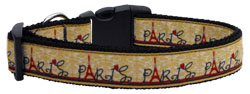 With Love from Paris Ribbon Dog Collars