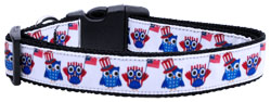 American Owls Ribbon Dog Collars