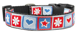 Blue Stars and Hearts Nylon