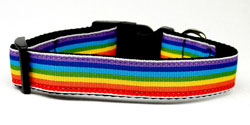 Rainbow Striped Nylon Collars