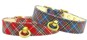 Plaid #70 Plain Dog Collar