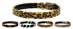 10mm Plain Animal Print Dog Collar