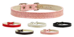 10mm Plain Faux Snake Skin Dog Collars