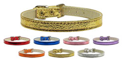 10mm Plain Metallic Dog Collar