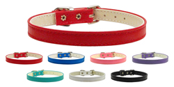 10mm Plain Faux Leather Collar