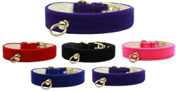Velvet #70 Plain Dog Collar