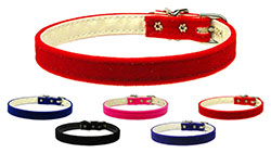 10mm Plain Velvet Dog Collars