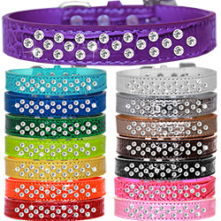 Sprinkles Clear Jewel Croc Dog Collar