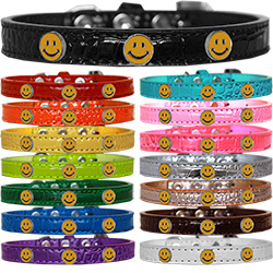 Happy Face Widget Croc Dog Collar