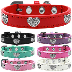 Crystal Heart Dog Collar