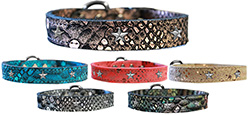 Silver Star Widget Dragon Skin Leather Collars