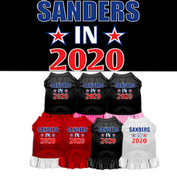 Sanders in 2020 Screen Print Dog Dress