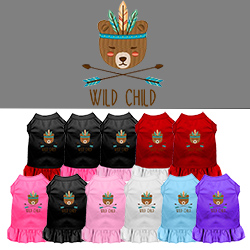 Wild Child Embroidered Dog Dress