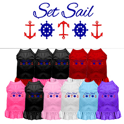 Set Sail Embroidered Dog Dress
