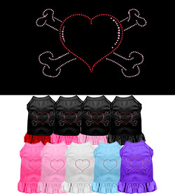 Heart and Crossbone Rhinestone Dress